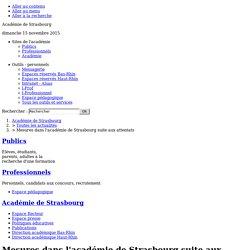 Mesures dans l'académie de Strasbourg suite aux attentats