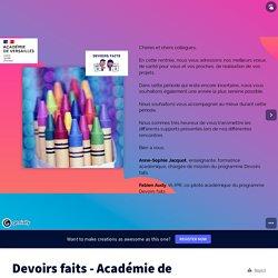 Devoirs faits - Académie de Versailles by anne-sophie.jacquot on Genially