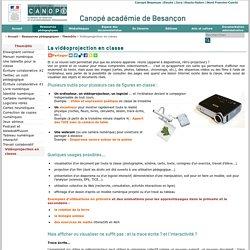 CRDP de Franche-Comté : Vidéoprojection en classe