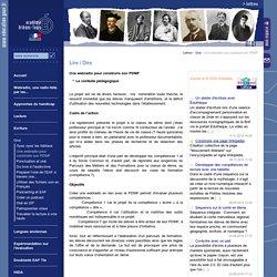 Lettres:Une webradio pour construire son PDMF