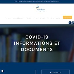 COVID-19INFORMATIONS ET DOCUMENTS - academielouispasteur