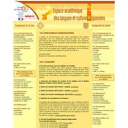 Espace académique des langues et cultures régionales