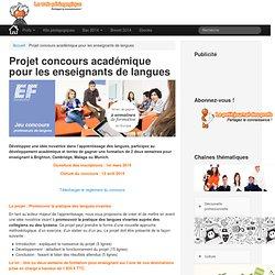 Projet concours académique pour les enseignants de languesLeWebPédagogique