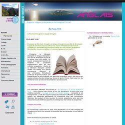 Littérature étrangère en langue étrangère