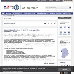 Le projet académique 2016-2019 en préparation - ac-creteil.fr