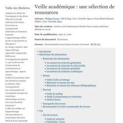 Veille académique : une sélection de ressources