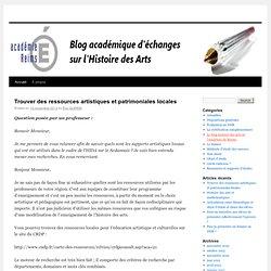 Blog académique d'échanges sur l'Histoire des arts