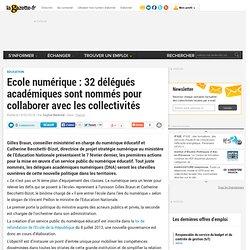 Ecole numérique : 32 délégués académiques sont nommés pour collaborer avec les collectivités