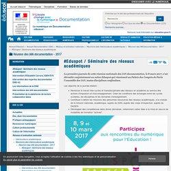 #Eduspot / Séminaire des réseaux académiques — Documentation (CDI)