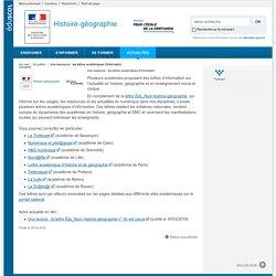 Une ressource : les lettres académiques d'information-Histoire-géographie-Éduscol