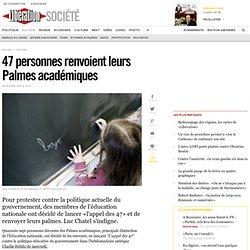 47 personnes renvoient leurs Palmes académiques
