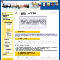 Travaux Académiques Mutualisés : bilan de l'année 2009/2010