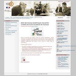 Bilan des travaux académiques mutualisés (TraAM) 2013-2014 Académie de Toulouse - Académie-Toulouse