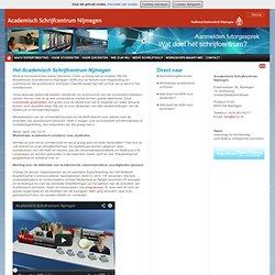 Homepage - Academisch Schrijfcentrum Nijmegen