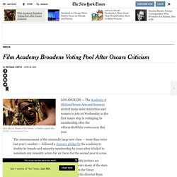 Film Academy Broadens Voting Pool After Oscars Criticism
