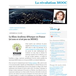 La Khan Academy débarque en France (et non ce n'est pas un MOOC)