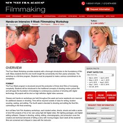 New York Film Academy - 4-Week Filmmaking Workshop