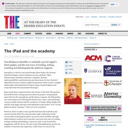 The iPad and the academy