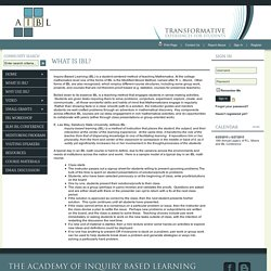 What is IBL? - The Academy of Inquiry Based Learning