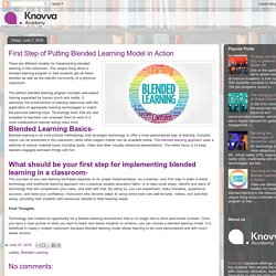 Knovva Academy: First Step of Putting Blended Learning Model in Action