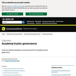 Academy trusts: governance