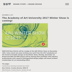 The Academy of Art University 2017 Winter Show is coming! - DDW