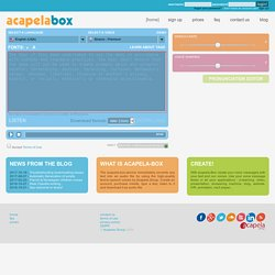 Acapela Box : create your text to speech messages