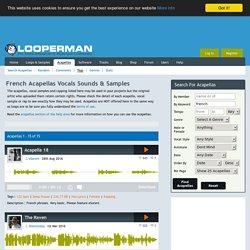 French Acapellas, Vocals, Sounds, Rap, A Capella Free Download