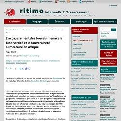 L'accaparement des brevets menace la biodiversité et la souveraineté alimentaire en Afrique