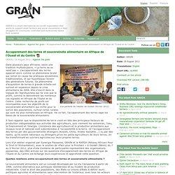 Accaparement des terres et souverainete alimentaire en Afrique de l'Ouest et du Centre