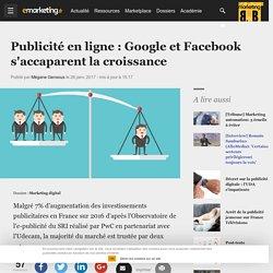 Publicité en ligne : Google et Facebook s'accaparent la croissance - Marketing digital