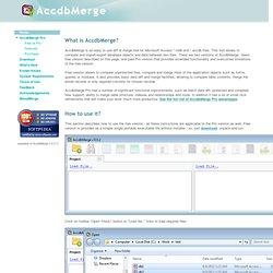 AccdbMerge - diff & merge Microsoft Access files (mdb & accdb)