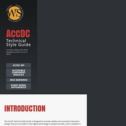 AccDC Technical Style Guide