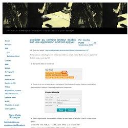 Accéder au compte lecteur Esidoc sur une application Androïd AppYet