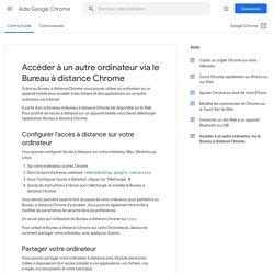 Accéder à un autre ordinateur via le Bureau à distance Chrome - Android - Aide GoogleChrome