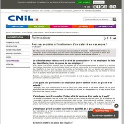 CNIL : l'Ordinateur d'un salarié ?