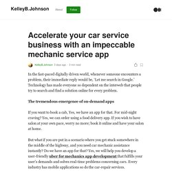 Accelerate your car service business with an impeccable mechanic service app