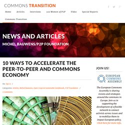 10 Ways to Accelerate the P2P & Commons Economy