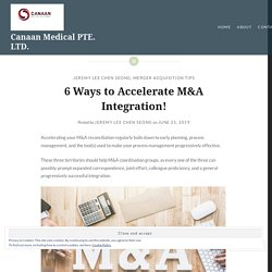 6 Ways to Accelerate M&A Integration!