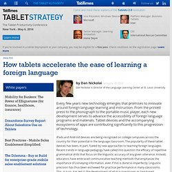 How tablets accelerate the ease of learning a foreign language