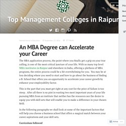 An MBA Degree can Accelerate your Career