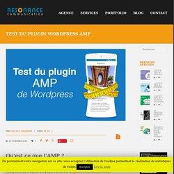 Test du plugin wordpress AMP Accelerate Mobile Performance