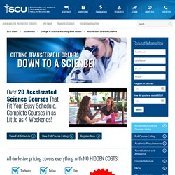 Accelerated Science Courses For Busy Schedule Students