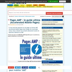 Le guide des pages AMP (Accelerated Mobile Pages)