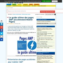 Pages AMP (Accelerated Mobile Pages) : le guide ultime SEO !