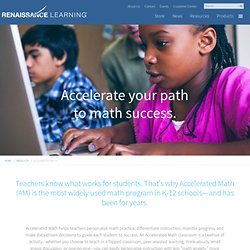 The World's Most Successful Math Software for Schools - Accelerated Math