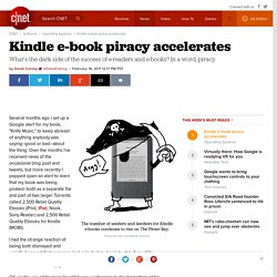 Kindle e-book piracy accelerates | Fully Equipped