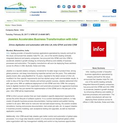 Jewelex Accelerates Business Transformation with Infor