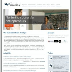 L'accélérateur de start-ups - Nurturing successful entrepreneurs