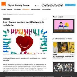 Les réseaux sociaux accélérateurs de solidarité